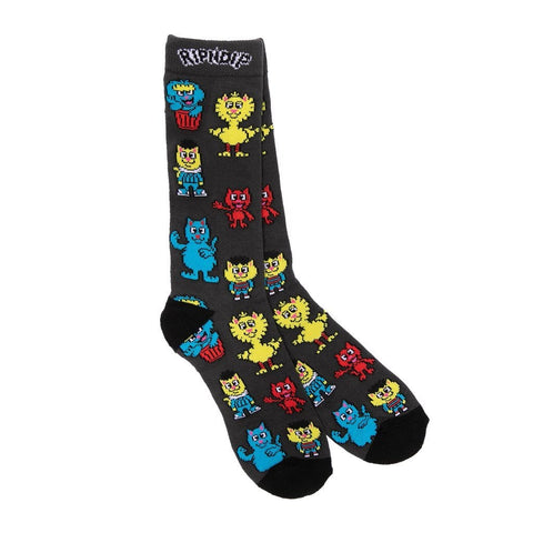 Buy Rip N Dip Nerm Socks Black. 70% Cotton / 27% Polyester / 3% Spandex All over print detailing. See more Ripndip? Tuesdays Skateshop. Fast free delivery and shipping options. Buy now pay later with Klarna and ClearPay payment plans at checkout. Bolton, UK. Best for RIPNDIP.