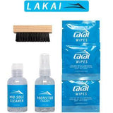 Buy Lakai Shoe Cleaning Kit. Kit Contains ; Pre Skate protecting stain repellant, After skate mid sole cleaner, 3 Disposable shoe wipes, Mid Soft Suede brush, Lakai Sticker in a compacted easy to store travel box. See more Footwear? Fast Free Delivery and Shipping options. Buy now Pay later with Klarna & ClearPay. Tuesdays Skateshop Bolton UK.