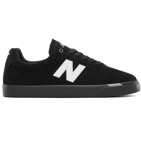 Buy New Balance Numeric NM22 Shoe Black/White. Classic heritage court silhouette. Suede toe box.  Suede Uppers. Wrap around Vulcanized sole. No Sew overlays for a seamless sleek finish. See more Nb#? Fast Free Delivery and shipping options. Buy now pay later with Klarna or ClearPay payment plans at checkout. Tuesdays Skateshop, Greater Manchester, Bolton, UK.