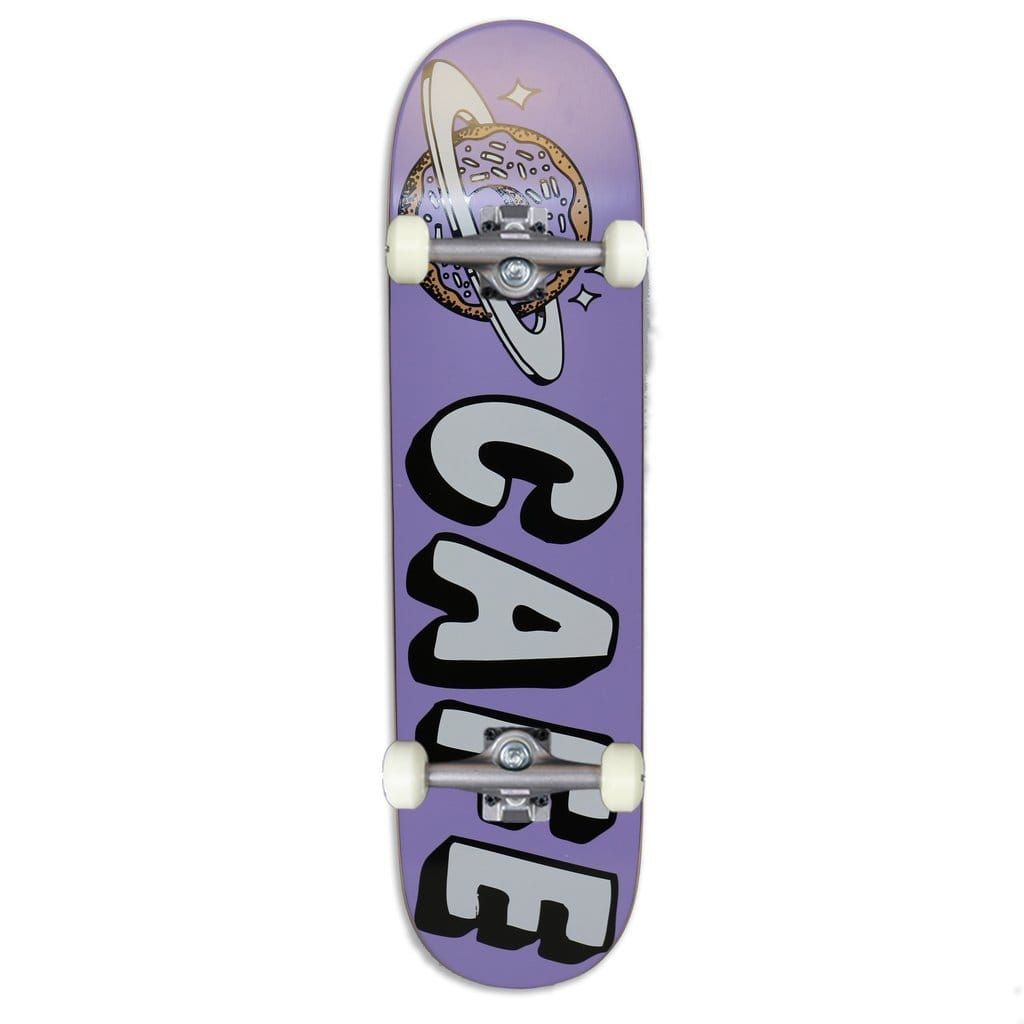 "Buy Skateboard Café Planet Donut Lavender Complete Skateboard 8.125"" (Hanger trucks) 52 MM 99 DU Wheels Abec 5 Bearings. Ideal for a first timer or the more intermediate skateboarding. Ideal for a first timer or the more intermediate skateboarding. #1 for getting rolling in the UK. Buy now pay later with Klarna & Clearpay. Fast Free Delivery/Shipping options. Tuesdays Skateshop 