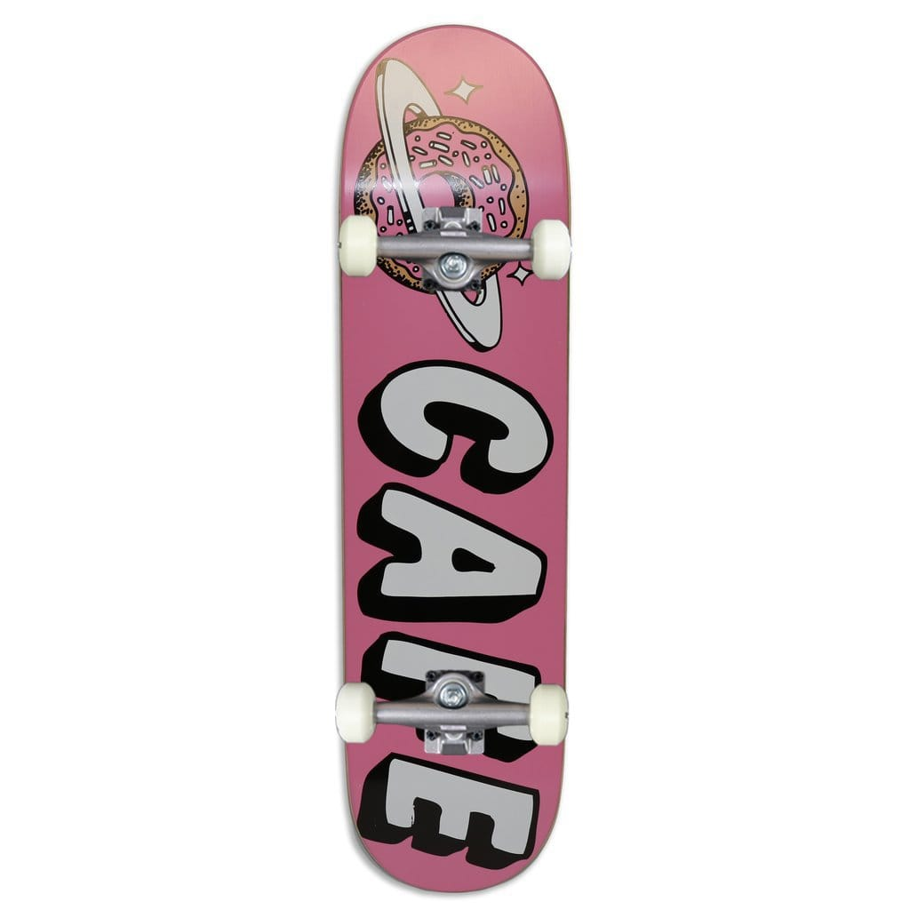 "Buy Skateboard Café Planet Donut Pink Complete Skateboard 8"" (Hanger trucks) 52 MM 99 DU Wheels Abec 5 Bearings. Ideal for a first timer or the more intermediate skateboarding. Ideal for a first timer or the more intermediate skateboarding. #1 for getting rolling in the UK. Buy now pay later with Klarna & Clearpay. Fast Free Delivery/Shipping options. Tuesdays Skateshop 