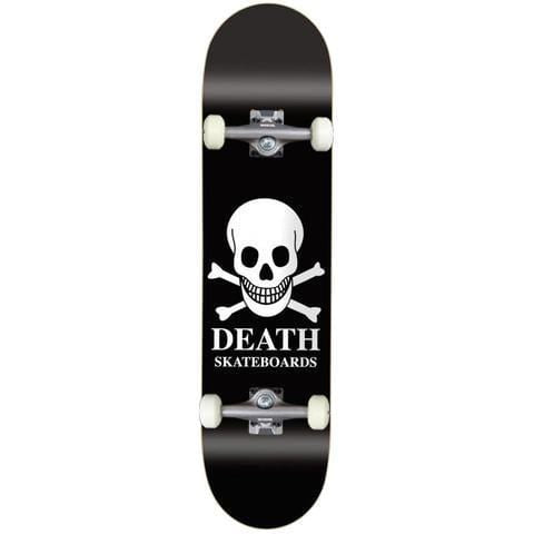 "Buy Death Skateboards OG Skull Black Complete Skateboard 8.125"" (Hanger trucks) 52 MM 99 DU Wheels Abec 5 Bearings. Ideal for a first timer or the more intermediate skateboarding. Ideal for a first timer or the more intermediate skateboarding. #1 for getting rolling in the UK. Buy now pay later with Klarna & Clearpay. Fast Free Delivery/Shipping options. Tuesdays Skateshop 