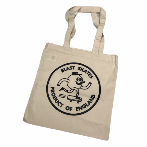 Buy Blast Skates Circle Logo Tote Bag Natural. Tough Canvas construct. 2 Shoulder straps. See more Bags? Fast Free UK and Europe delivery options, Worldwide Shipping.