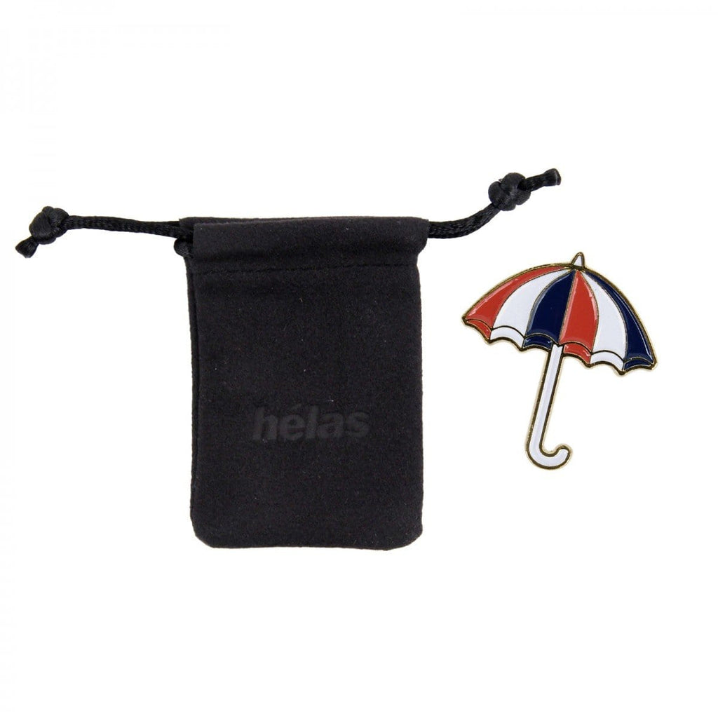 Buy Helas UMB Pins Red/White/Blue. Metal Pin w/ back fastening. Comes with drawstring closing dust bag. See more Helas? Umbrella Pin 5 GBP. Free UK delivery When you Spend 50.00 GBP, Worldwide Shipping.