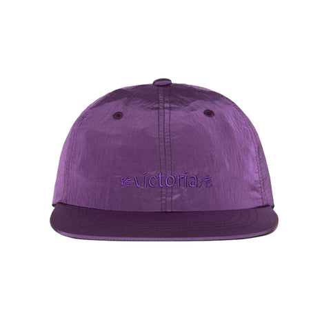 Buy Victoria HK Metallic Nylon Logo Cap Purple. 100% Nylon, 80G/M2. Shiny Metallic detail, 6 Panel construct. Embroidered front logo with Black clasp woven tab. See more caps? Fast free delivery options. Best for Skateboarding caps in the UK. Buy now Pay Later with Klarna & ClearPay. Tuesdays Skateshop Bolton. Victoria Hong Kong Uk Stockist.