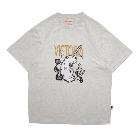 Buy Victoria HK Duster T-Shirt Heather Grey. 100% Soft cotton construct. Front print detail. Woven tab side detailing. See more Tees? Best for skateboarding tees at Tuesdays Skateshop. Fast free delivery options. Buy now Pay later with Klarna and ClearPay.