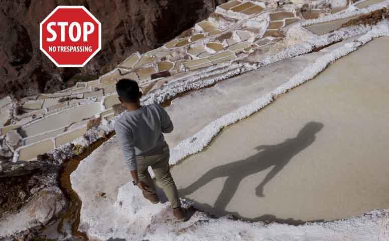 Entrance to the Salt Mines of Maras will be prohibited from June 15th!