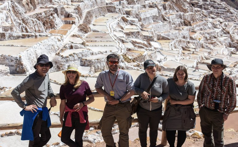 Group at Maras Salt Mines Cusco