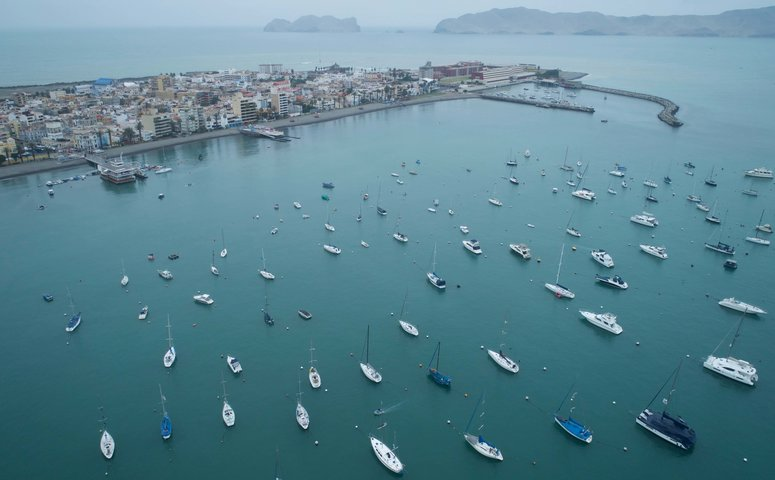Drone view of callao harbour