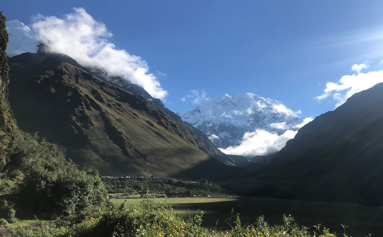 View of the Salkantay mountain during a sunny day