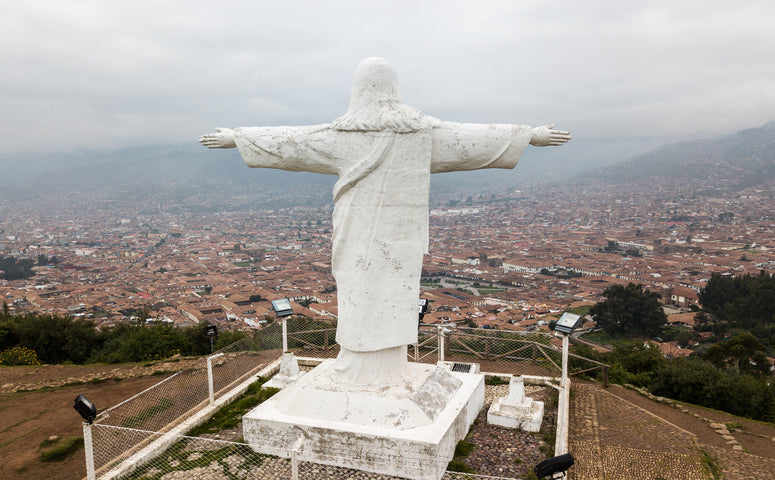 White Jesus Christ statu with extending arms