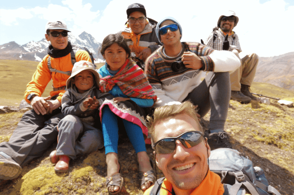 Visit local community Rainbow Mountain Ausangate Trek Cusco Peru