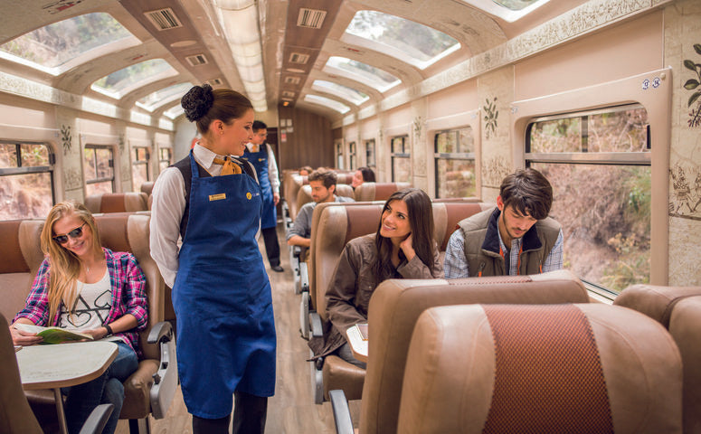 Expedition train to Machu Picchu from inside