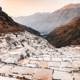 Maras salt mines at sunset