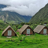Andean huts in jungle