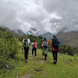Hiking during Salkantay trek