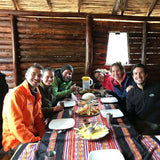 Group lunch before the Humantay lake tour
