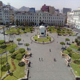 View of ancient building in Lima's city center