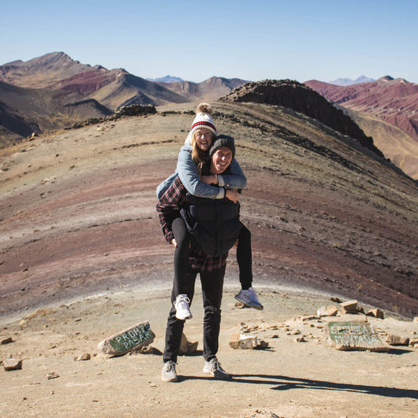 Couple at Rainbow Mountain Palccoyo