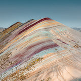 Palccoyo rainbow mountain drone shot
