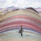 Girl on Rainbow Mountain Palccoyo