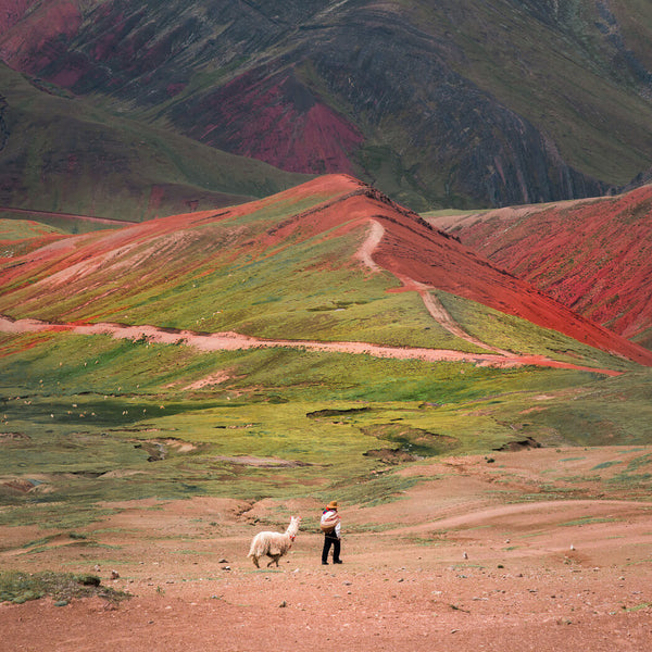 rainbow mountain peru funny