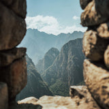 View Machu Picchu mountain landscape