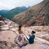 Couple at the Maras Saltmines