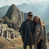 Couple in front of Machu Picchu ruins