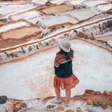 Girl at the Maras Saltmines Cusco
