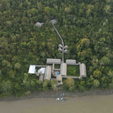 Lodge in Amazon jungle from above