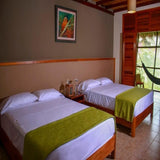 Heliconia Lodge beds double room
