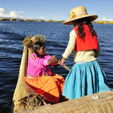 Girl of local family at Uros Islands