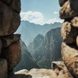 Machu Picchu ruins with mountains in the background