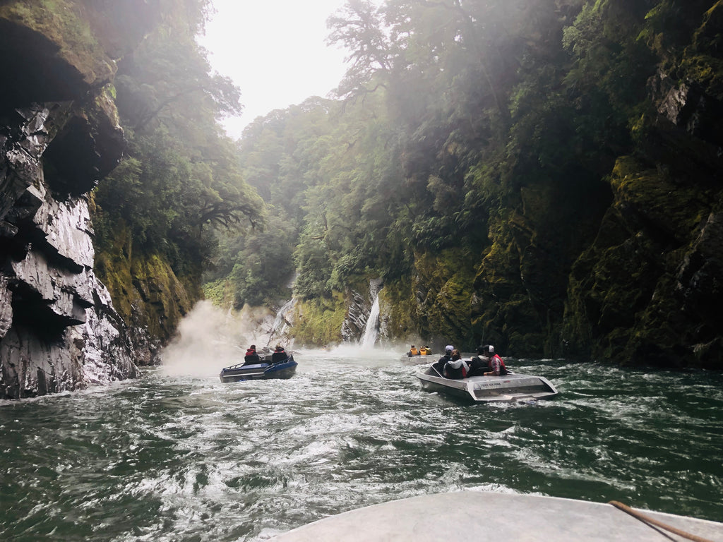 Jet Boating through a gorge