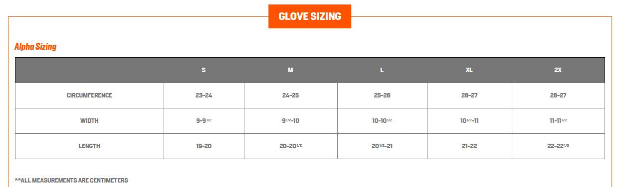 First Lite Sizing Chart 5