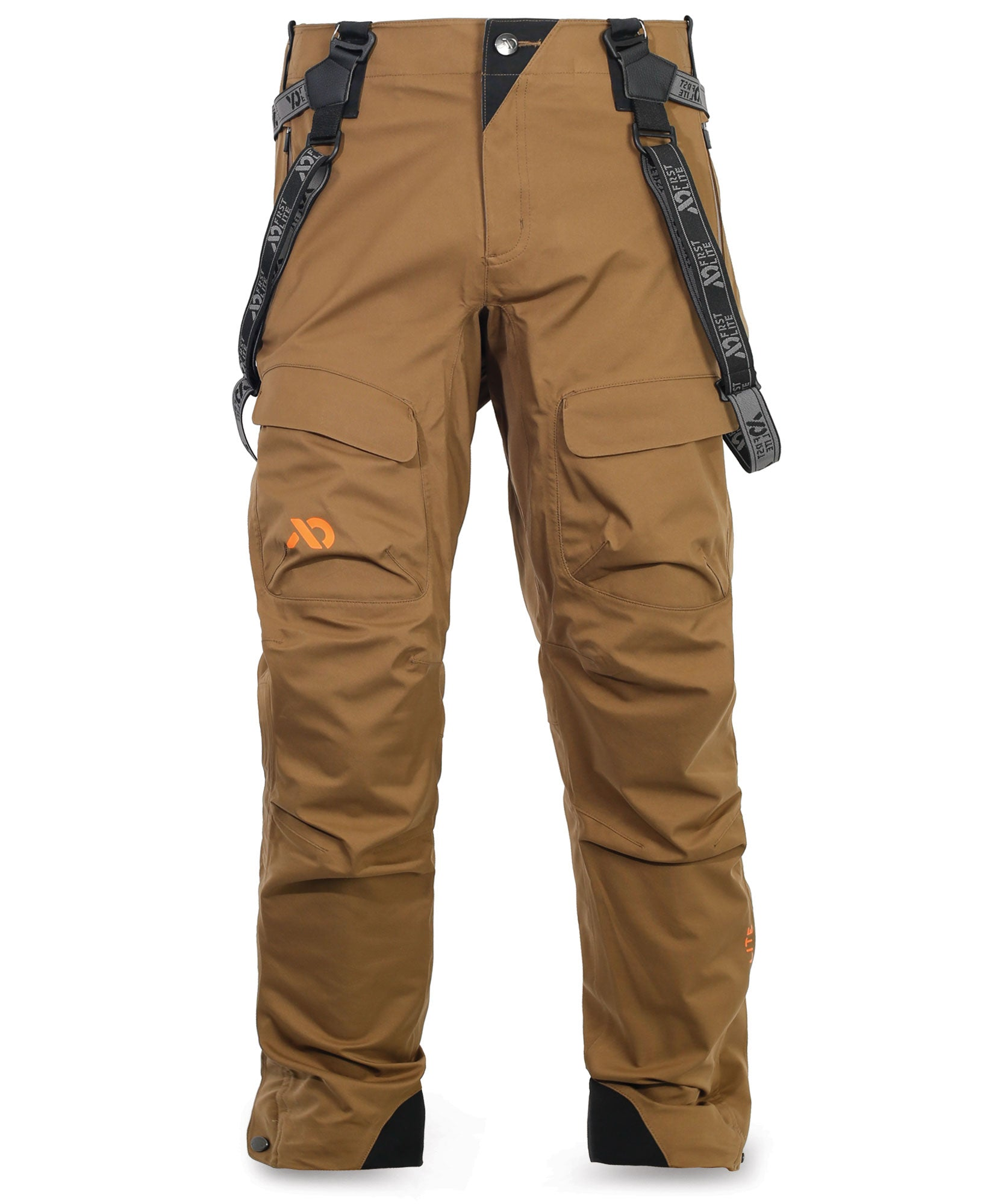 First Lite SEAK Stormtight Rain Pant dry earth