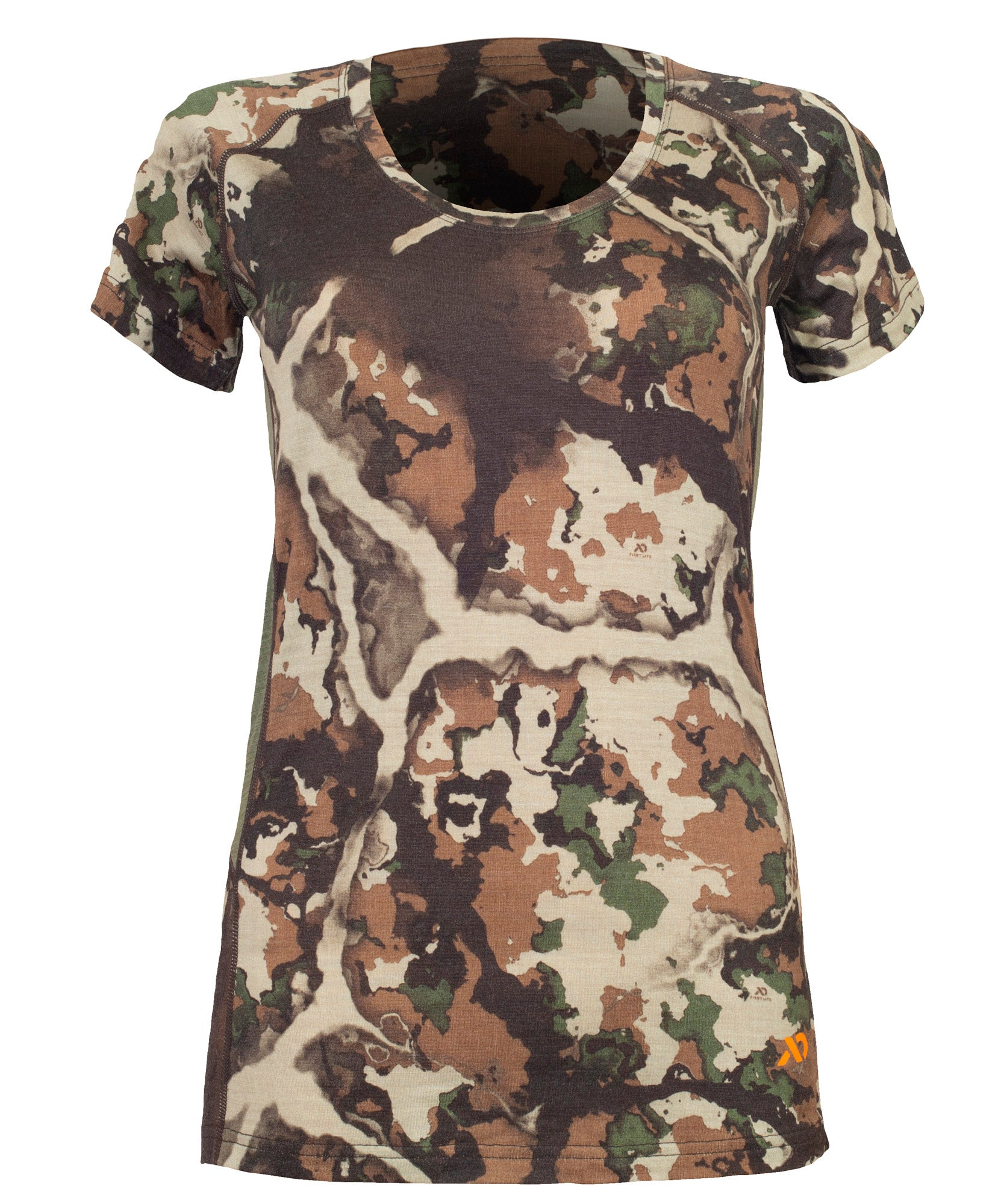 First Lite Women's Wick Short Sleeve fusion