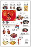 Chinese Festival Wall Chart Set - Traditional Chinese (6-Poster)