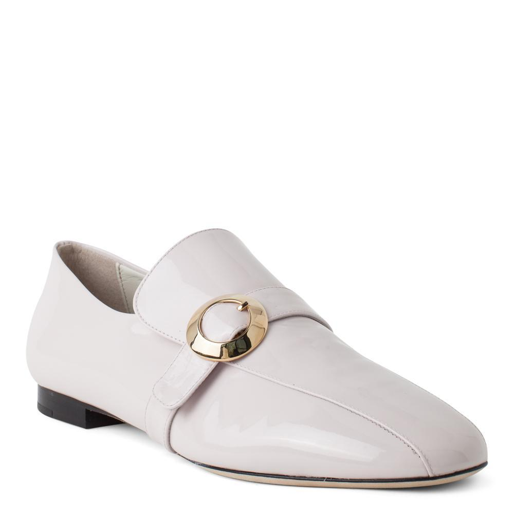 8671a91ea00 ... Aerial View · Daniella Shevel Women s Pink Leather Loafer with Gold  Buckle Accessory ...
