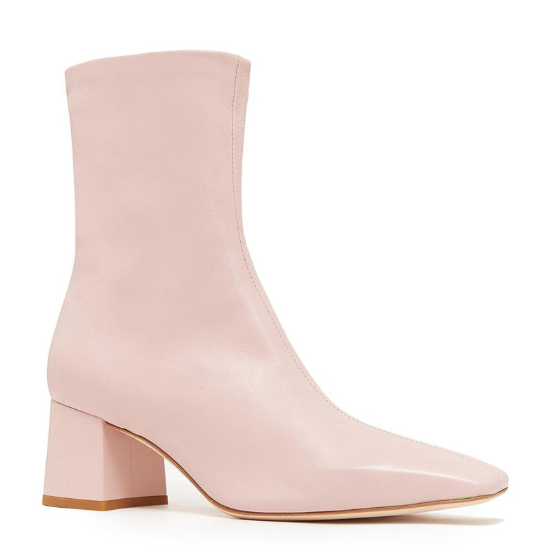 Daniella Shevel Milani Stretch Bootie in Soft Pink Side Angle View