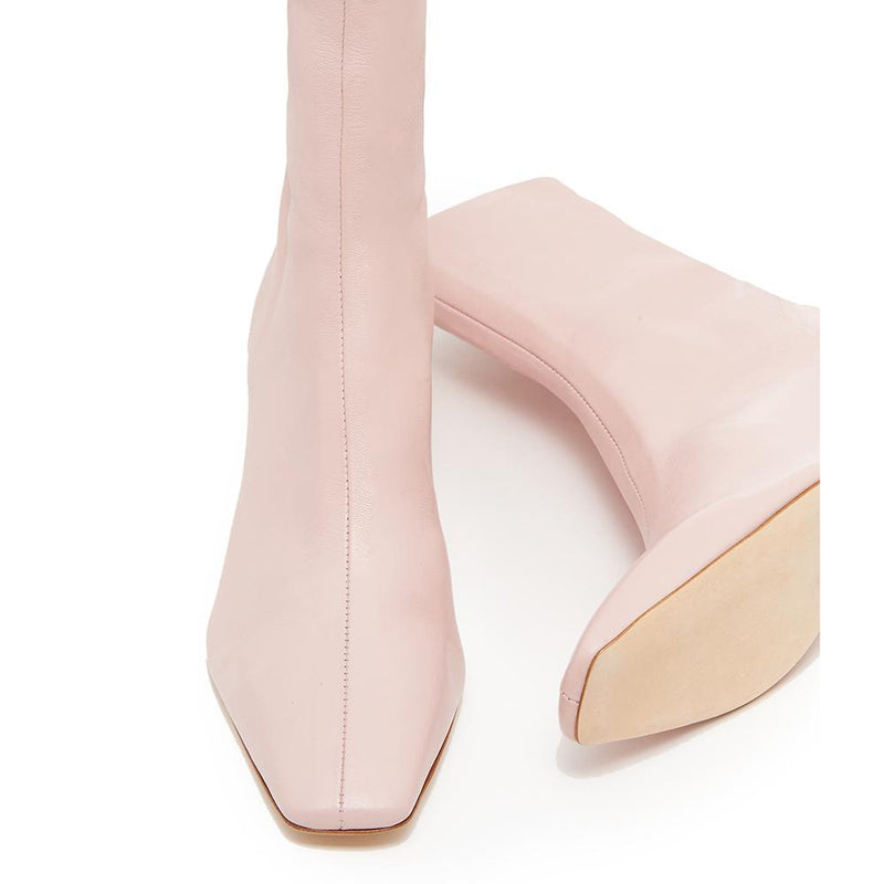 Daniella Shevel Milani Stretch Bootie in Soft Pink Front View