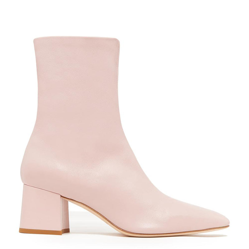 Daniella Shevel Milani Stretch Bootie in Soft Pink Side View