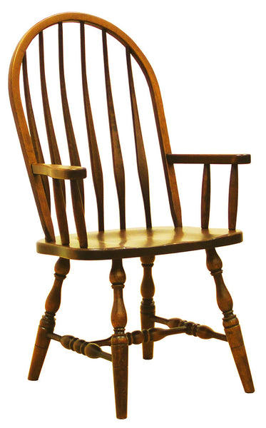High Back Bent Feather Arm Chair