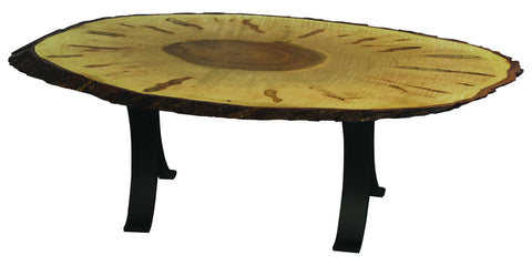 Heritage Wormy Maple Oval Table
