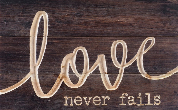 Carved Calligraphy - Love