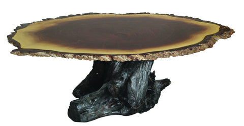 Heritage Walnut Oval Coffee Table