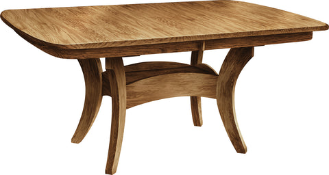 Economy Sap Cherry Galveston Pedistal Table
