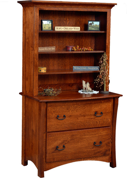 Master 2 drawer Lateral File Cabinet with Hutch