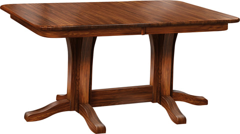 Economy Sap Cherry Millsdale Double Pedistal Table